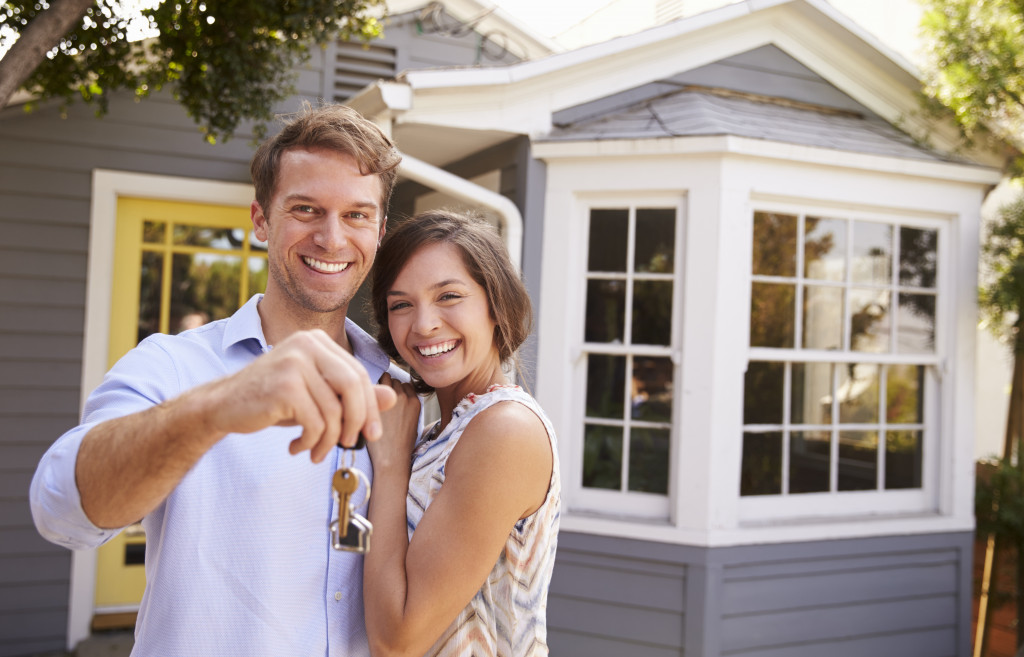 couple owning home